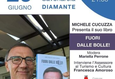 """Michele Cucuzza a Diamante per presentare il suo ultimo libro:  """" Fuori dalle bolle ! Come sottrarsi alle supercazzole in rete"""""""