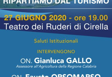 """""""Calabria: ripartiamo dal Turismo"""", al Teatro dei Ruderi di Cirella il convegno con gli assessori regionali Gallo e Orsomarso"""