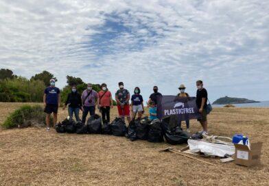 Giornata Mondiale dell'Ambiente, raccolta Plastic Free a Cirella